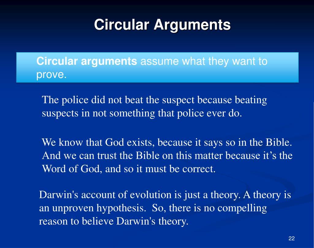 Circular arguments