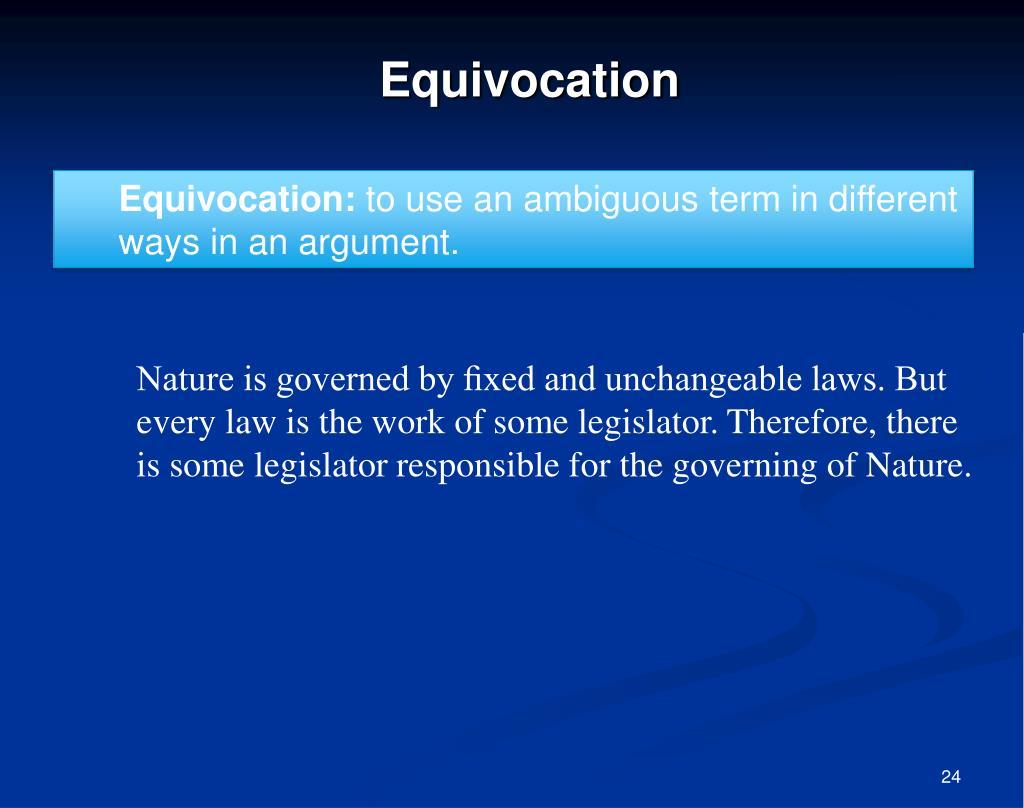 Equivocation: