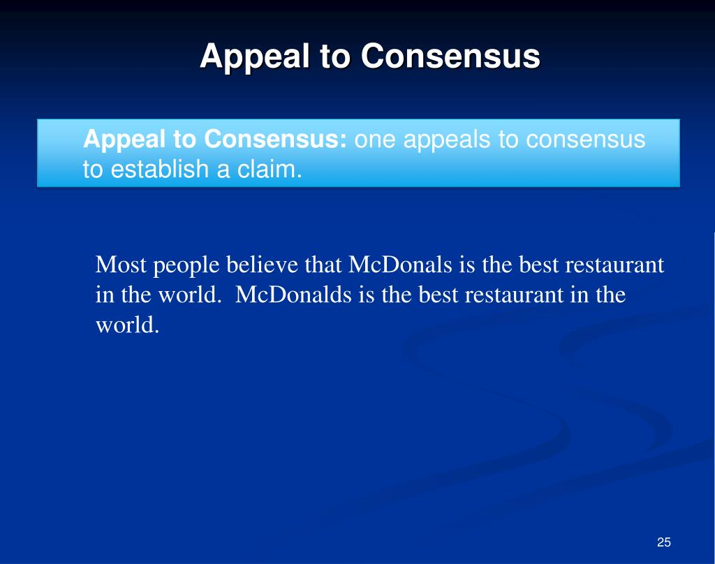 Appeal to Consensus: