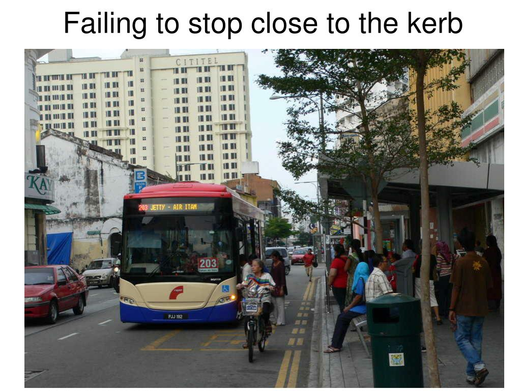 Failing to stop close to the kerb