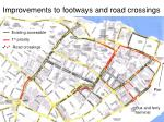 improvements to footways and road crossings