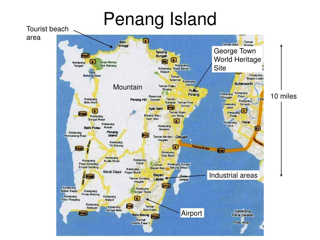 Tourist beach area