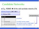 candidate networks