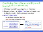 combining query forms and keyword search chu et al sigmod 09