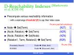 d reachability indexes markowetz et al icde 09