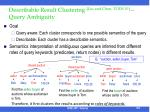 describable result clustering liu and chen tods 10 query ambiguity