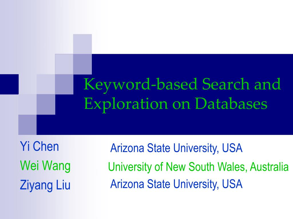 keyword based search and exploration on databases l.