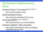 performance improvement ideas