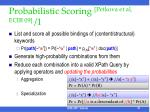 probabilistic scoring petkova et al ecir 09 1