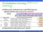 probabilistic scoring petkova et al ecir 09 2
