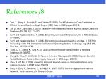 references 8