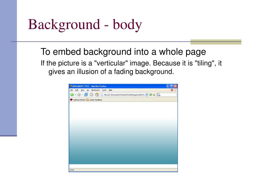 Background - body