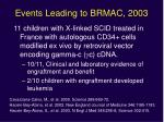events leading to brmac 2003