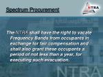 spectrum procurement