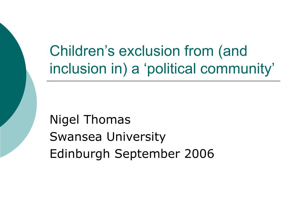 children s exclusion from and inclusion in a political community l.