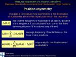 position asymmetry