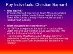 key individuals christian barnard