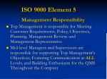 iso 9000 element 5