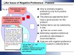 an issue of negative preference feature