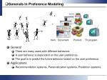 generals in preference modeling