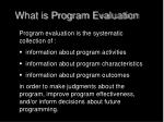 what is program evaluation