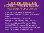 class information pilates for stroke survivors pilates for people with ms