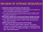 review of stroke research