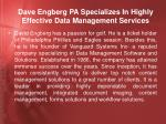 dave engberg pa specializes in highly effective data management services2