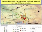 springerville st johns co 2 field ground water wells in the area show high hco 3 concentrations
