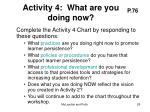 activity 4 what are you doing now