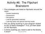 activity 6 the flipchart brainstorm