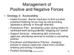 management of positive and negative forces39