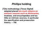 phillips holding