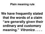 plain meaning rule