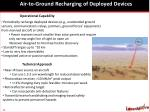 air to ground recharging of deployed devices