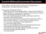 current military government discussions