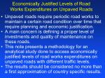 economically justified levels of road works expenditures on unpaved roads