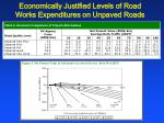 economically justified levels of road works expenditures on unpaved roads11