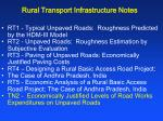 rural transport infrastructure notes