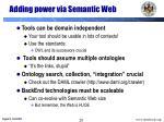 adding power via semantic web
