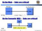 on the web links are critical