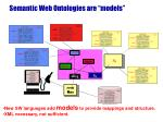 semantic web ontologies are models