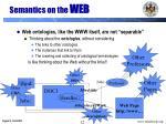 semantics on the web