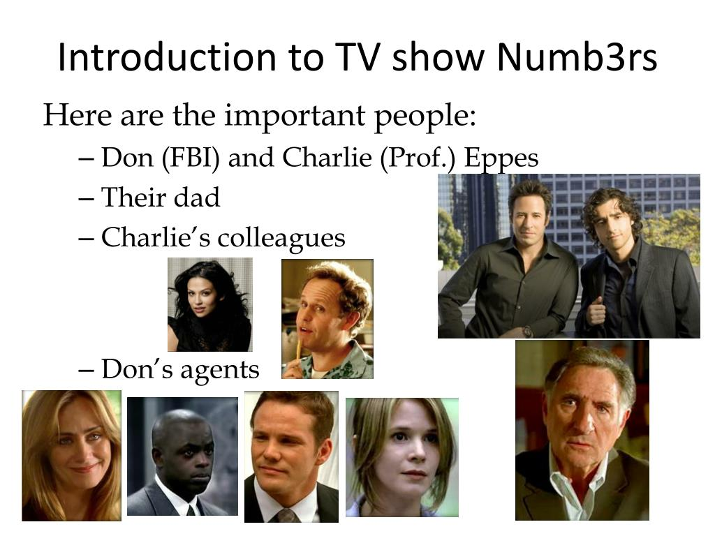 introduction to tv show numb3rs l.