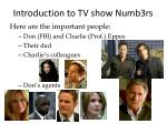 introduction to tv show numb3rs