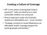 creating a culture of coverage
