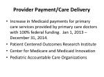 provider payment care delivery