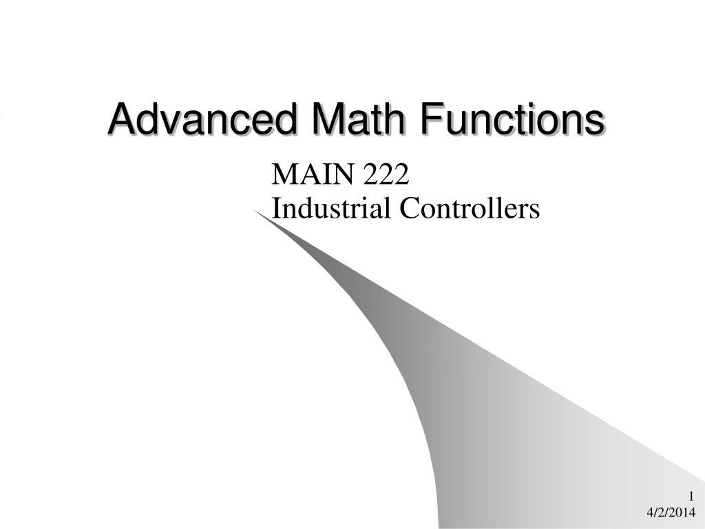 advanced math functions l.