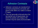 adhesion contracts