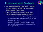 unconscionable contracts